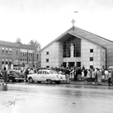 School and old church 1954